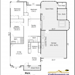 Example of Deluxe Black and White Floor Plan