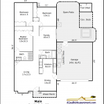 Example Standard Floor Plan Black and White