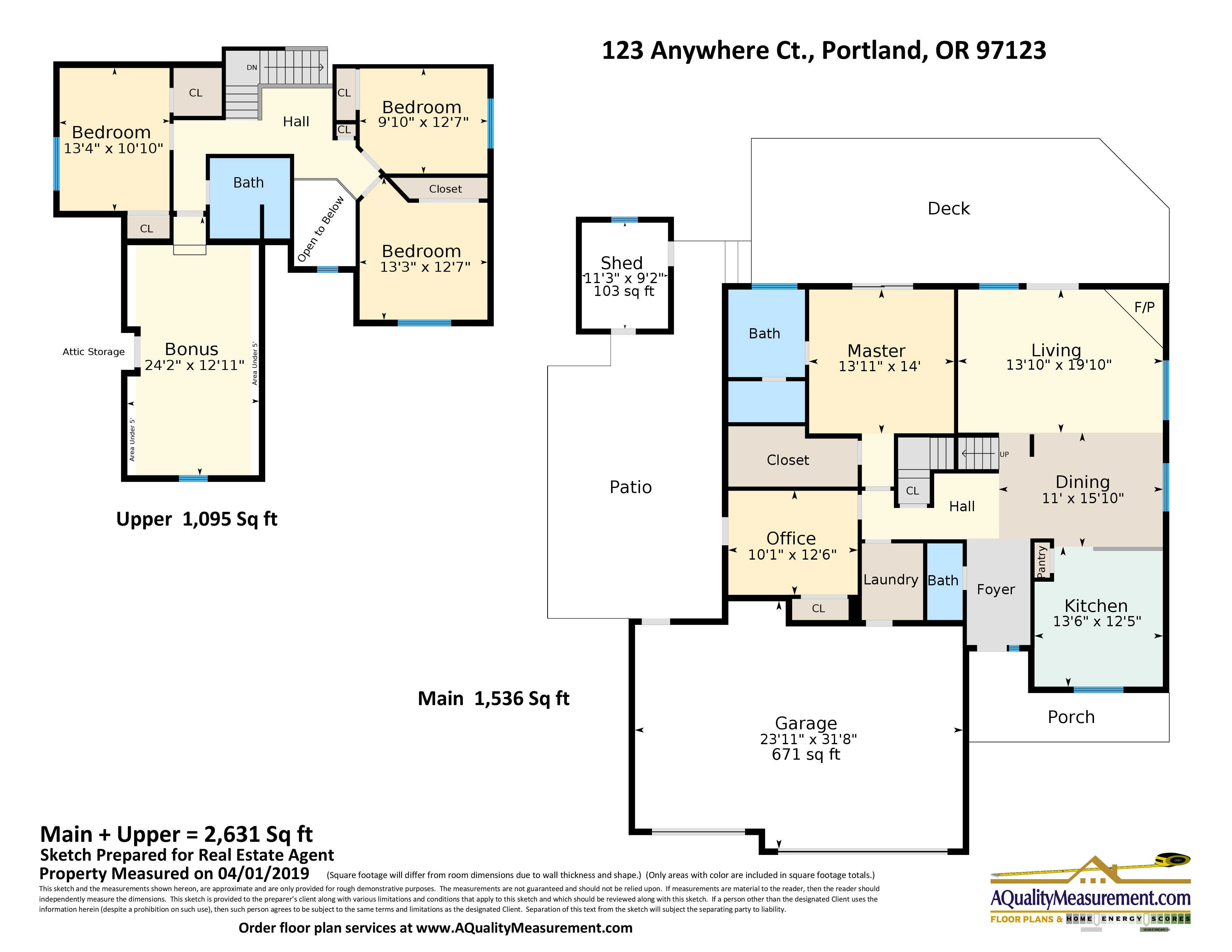 Portland Home Energy Scores Floor Plans A Quality Measurement
